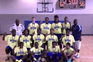 The Birmingham Blue Devils 15u basketball team defeated the Carolina BB Kings in Myrtle Beach to bring home the Gold in the NTBA 15u Gold Division National Championships! They went 7 and 0 with a final score of 62-56.