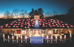 The Dancing Lights on the Holiday House at Magical Nights of Lights are a Must-See