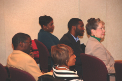 Birmingham City Councillors, School Board Members and other City officials attend the meeting