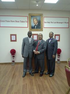 left to right;  Shahid Muslim, Director, Munir Muhammad, Business Manager, Halif Muhammad, Secretary