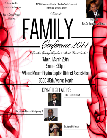 Family Conference FLYER