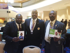 Omega Psi Phi Fraternity, Inc. 77th Seventh District meeting in Atlanta, Georgia, April 10 - 13, 2014. This meeting was held at Atlanta Marriott - Marquis. In the photo, from left to right, are: Mr. Keith Nixon, Operations Associate with Seedco; Senator Quinton Ross Alabama Legislature, District 26; Mr. Emmett Turner Birmingham Health Care, Inc. Certified Application Counselor.