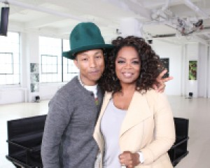 Oprah Winfrey Speaks with Music Superstar Pharrell Williams