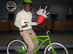 Christian on bike