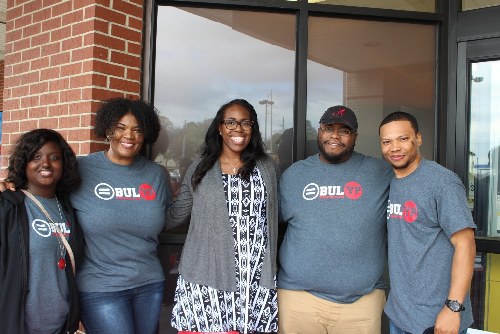 Birmingham Urban League  members ( L to R)L Ashely Newton, Toni Wiley, Alana Robinson, Prince Cleveland, and Tamir Buford.