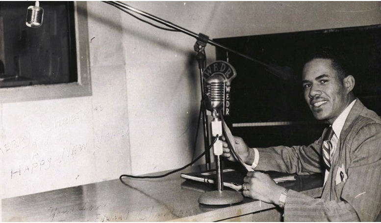 Ed Chambers, a sportscaster with WEDR-AM 1220 is shown in this 1950 photo (Alabama NewsCenter contributed)