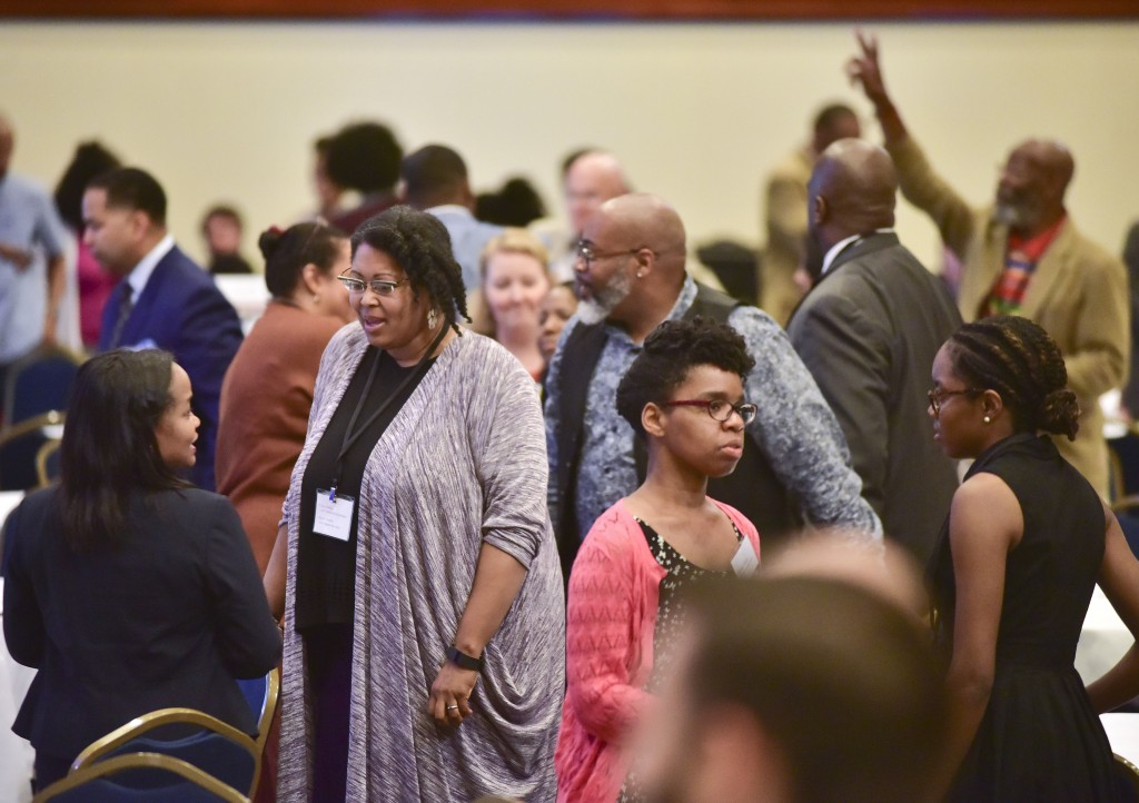 The opening session for the 2016 Cities United and March for Hope Tuesday May 3, 2016 in Birmingham, Alabama.  (The Birmingham Times / Frank Couch)