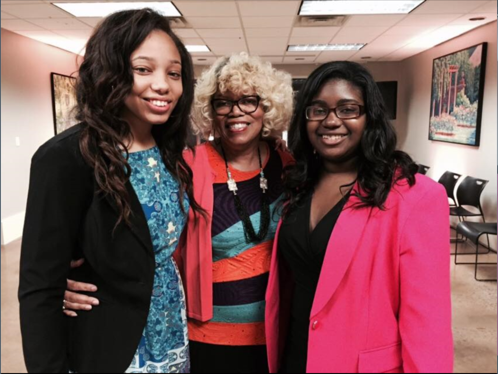 The eighth Valedictorian, her principal, and the Salutatorian: Wenonah High School Valedictorian Brianna Adams (right) plans to attend Benedict College and study accounting. She is with school Salutatorian Natalyn D'Errico (left) and Principal Regina Carr Hope.
