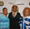 From Left: First Lady Vernita Wesley, Greater Shiloh MBC, Birmingham; Pastor Judy Johnson Sr. Pastor, Cliaborne Family of Faith Worship Center; and First Lady Esther-Phillips, St. Philips MBC, Dallas.