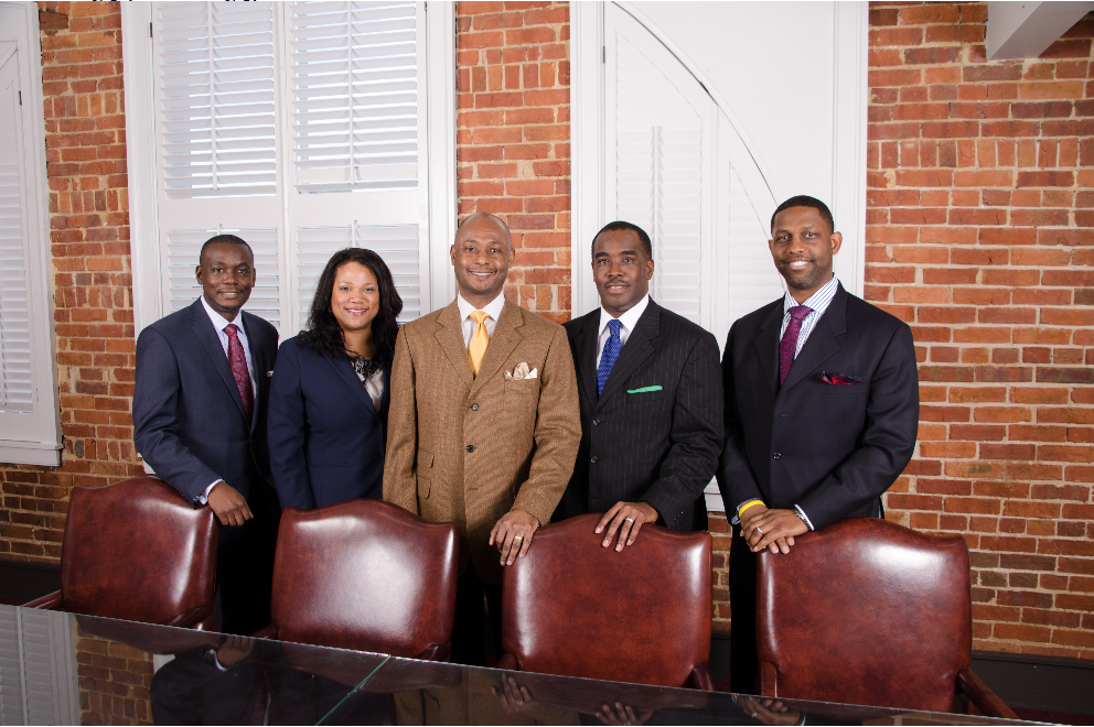 From left:  Kendall C. Dunson, Danielle W. Mason, LaBarron N. Boone, Larry A. Golston, and Navan Ward, Jr.