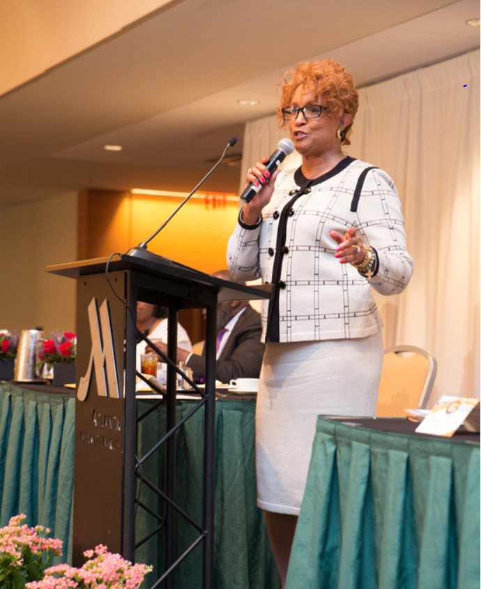 Bishop Vashti Murphy McKinzie, Presiding Prelate of the 10th Episcopal District of the AME Church; Bishop McKenzie was the keynote speaker for the Women of Wisdom Luncheon in Atlanta for the 2015 Congress.