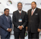 From left: Dr. Michael W. Wesley Sr., Birmingham Host Pastor for the 110th National Baptist Congress, Senior Pastor of Greater Shiloh Baptist Church of Birmingham;  Dr. T. B. Boyd III, President & Chief Operating Officer of R. H. Boyd Publishing and the National Baptist Congress;  Dr. William Flippin Sr. 2015 Atlanta Host Pastor and Senior Pastor of The Greater Piney Grove Baptist Church in Atlanta