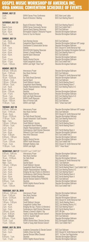 GMWA-Events