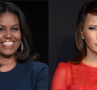 Michelle Obama (left) and Melania Trump (right).