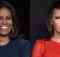 Michelle Obama (left) and Melania Trump (right).