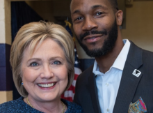 Hillary Clinton is seen with Randall Woodfin, the Alabama State Director for 'Hillary for America.' (PROVIDED PHOTO)