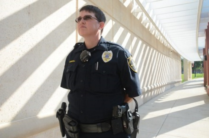 Officer Heather Campbell has been with the Community Services Division at the West Precinct for eight years. (Karim Shamsi-Basha, Alabama NewsCenter)