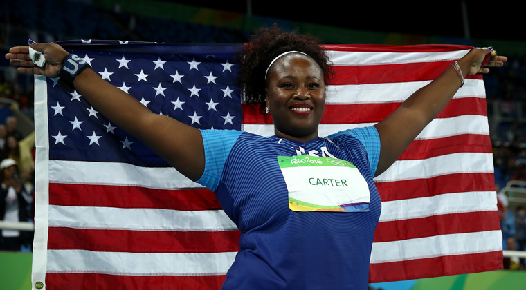 Olympic shot put winner Michelle Carter. (Getty Images)
