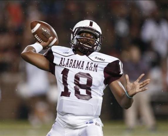 Alabama A&M quarterback DeAngelo Ballard. (Special to The Times)