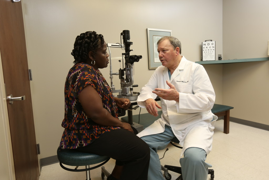 Angela Bailey was under the care of Dr. Robert Morris at UAB Callahan Eye Hospital. Morris, one of the nation's foremost retina specialists, quickly diagnosed a hemorrhage and scheduled laser treatment. (Special to The Times)
