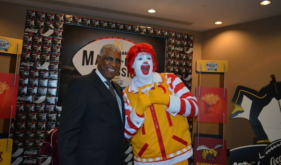 Mayor William Bell during an announcement that McDonald's has signed on as title sponsor of the Magic City Classic, the largest HBCU football game in the country. (Stephonia Taylor McLinn, Special to the Times)