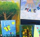 Local artist displays paintings at Ensley Renaissance Festival. (Keisa Sharpe/Alabama NewsCenter)