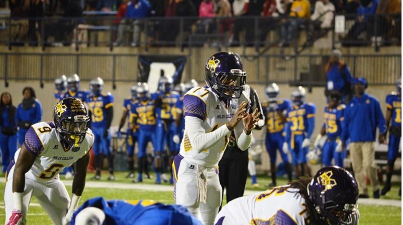 Junior quarterback David Whipple returns this season to lead the Golden Bears' offense. (Miles College Football photo)
