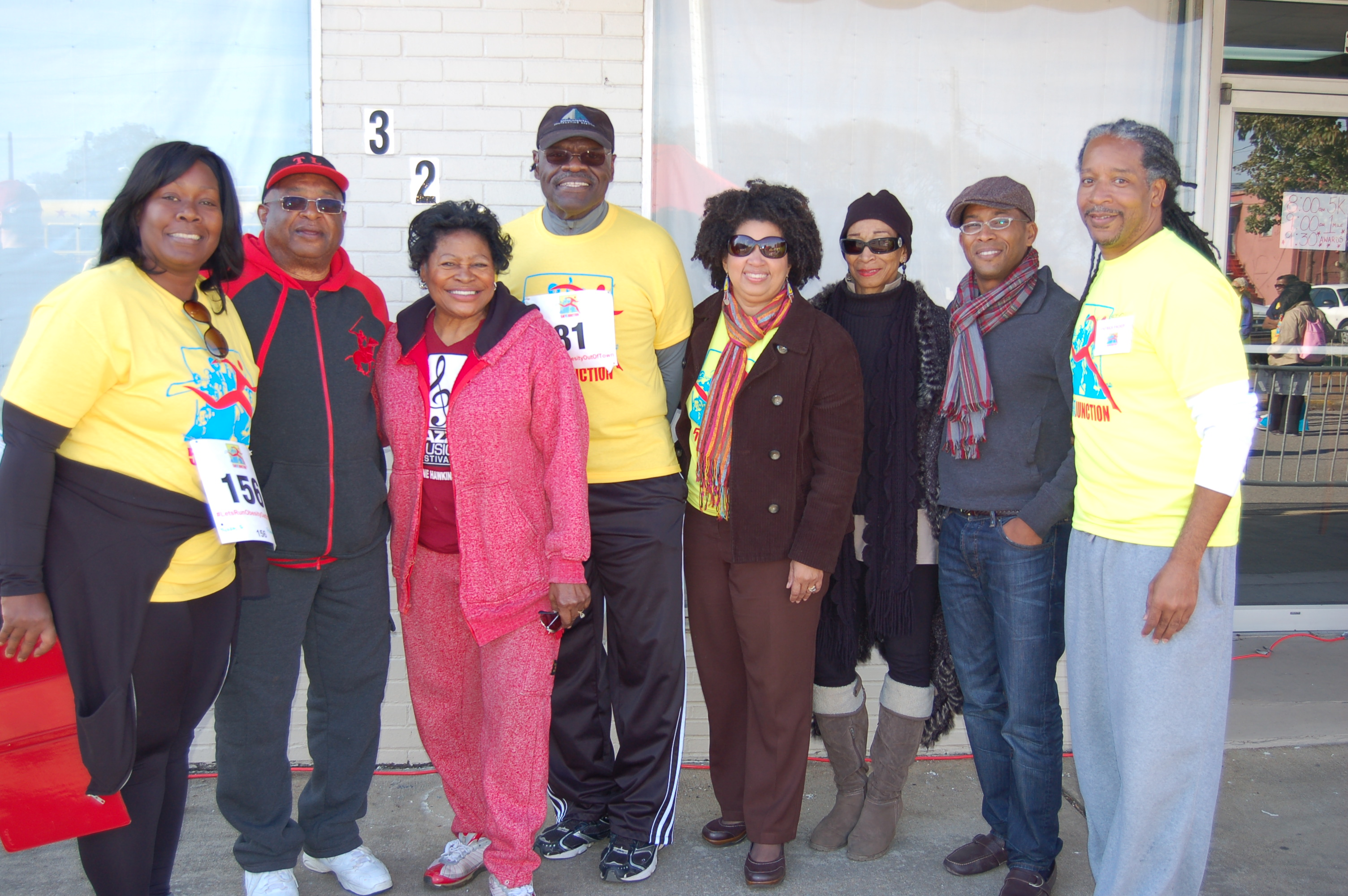 From left, City Councilor Sheila Tyson, Ensley Neighborhood President George McCall, Community President Magnolia Cook, Board Member William Robertson, Jr. (deceased), President of Bethesda Life Center Bettina Byrd-Giles, Board Member Gwen DeRu, Board President Attorney Antonio Spurling and Community Leader Patrick Packer. (Provided photo)