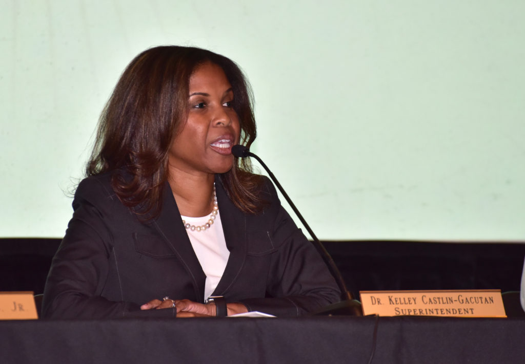 Castlin-Gastlin during a special called board meeting held at Parker High Tuesday July 26, 2016 in Birmingham, Alabama (Frank Couch, The Birmingham Times)