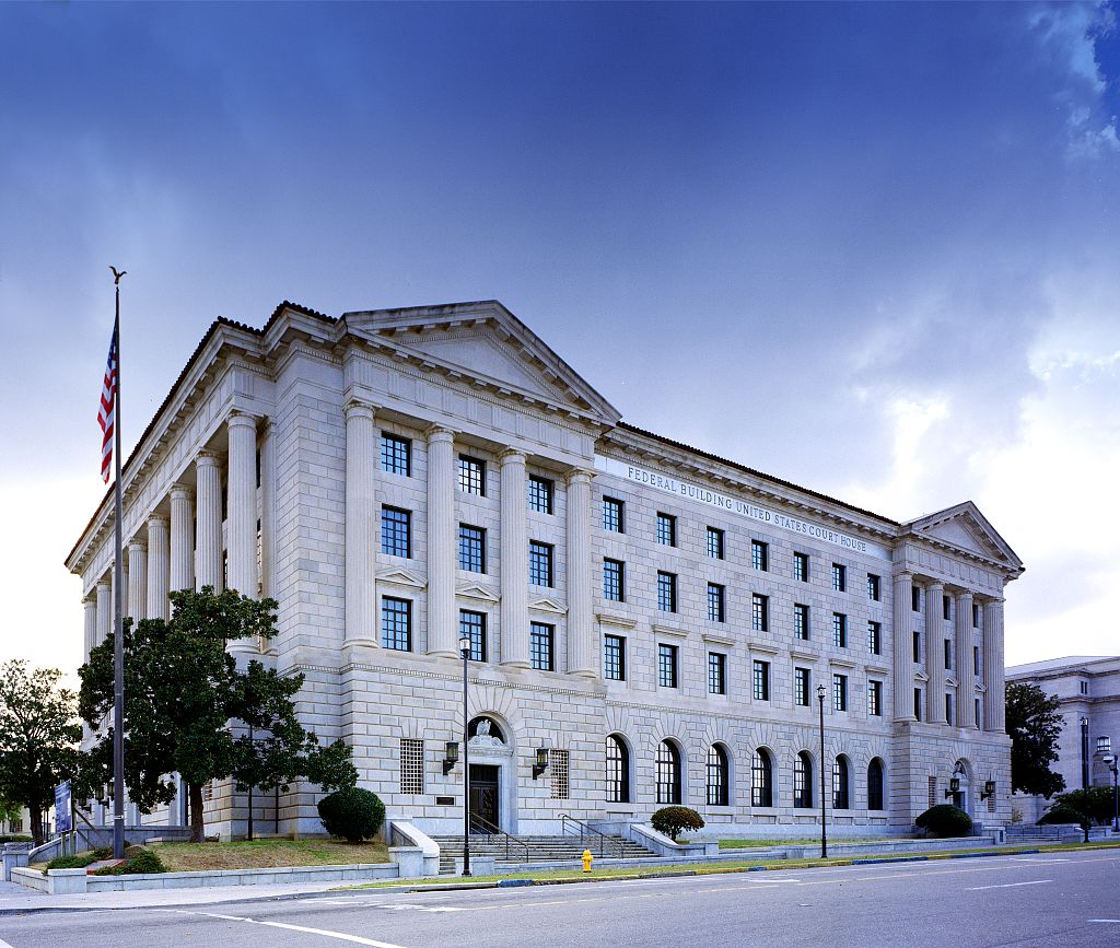 Frank M. Johnson Jr. Federal Building and U.S. Courthouse located on 15 Lee Street in downtown Montgomery, Alabama. Built in 1932 and in the 1950s major civil rights issues were decided in this building. (U.S. Library of Congress/Public Domain)