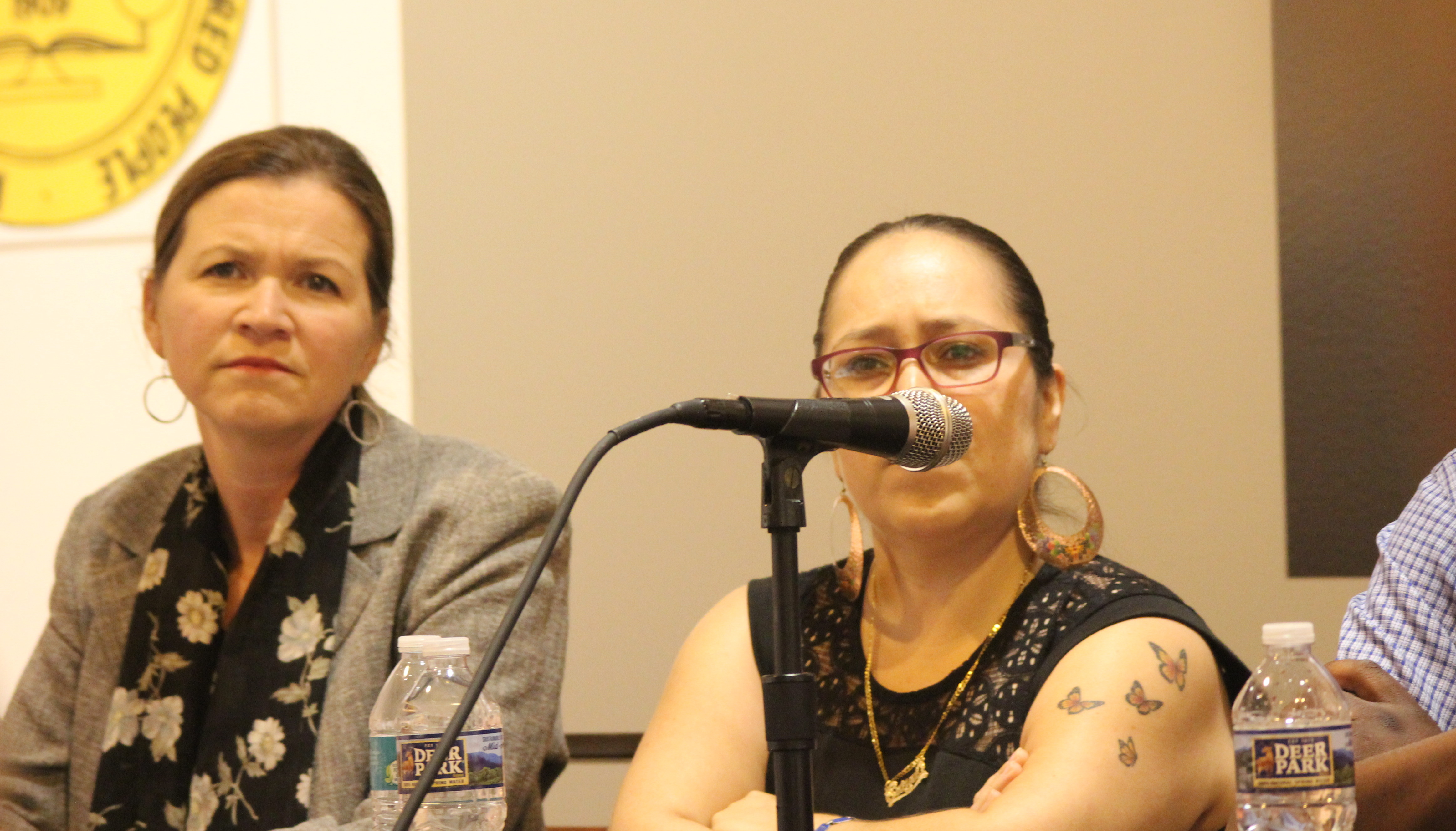 """Kirsten Bryant, left, believes that social media is not the """"end all, be all"""" for activism."""