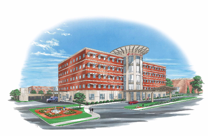 A new facility would replace the current Cooper Green Mercy Health Services building, which was built in 1972, and serves as an urgent care center. (Provided drawing)