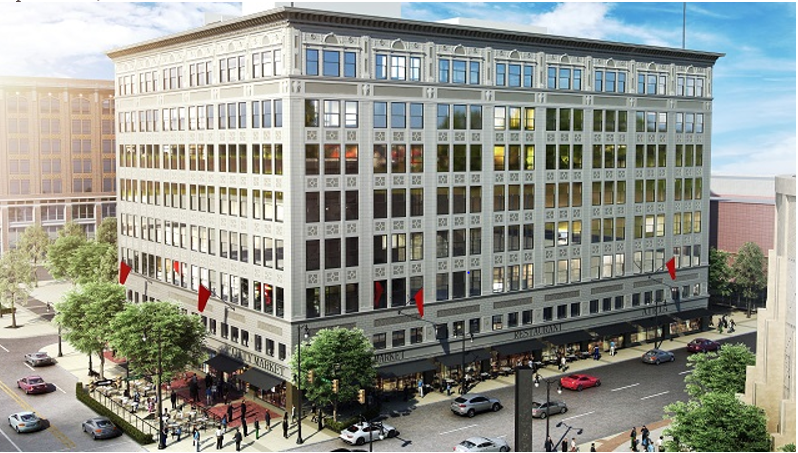 The Pizitz building is nearly ready for its second life as a mixed-use development after a $70 million restoration. (Contributed photo).