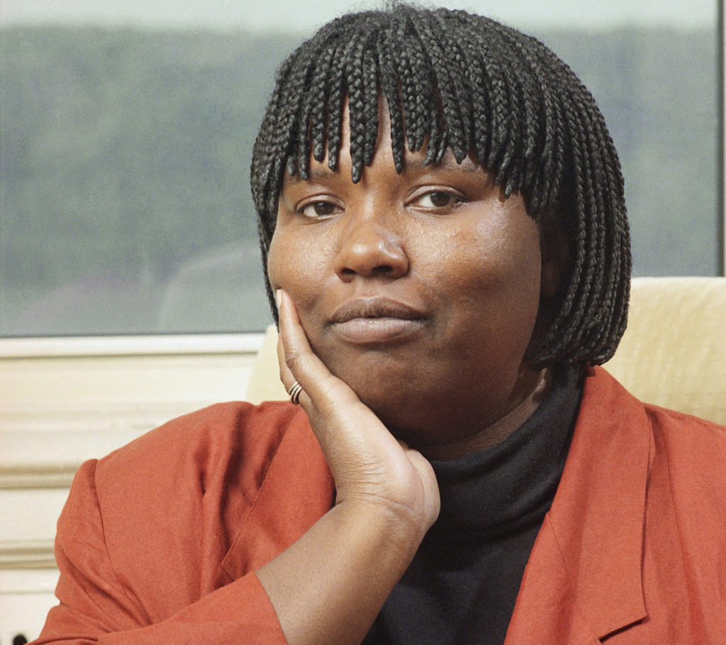 "Author Gloria Naylor poses at her home in New York City, Oct. 9, 1992. Naylor, the author of the best-seller,""The Women of Brewster Place,"" has published her fourth novel, ""Bailey's Cafe."" (Tom Keller, Associated Press)"