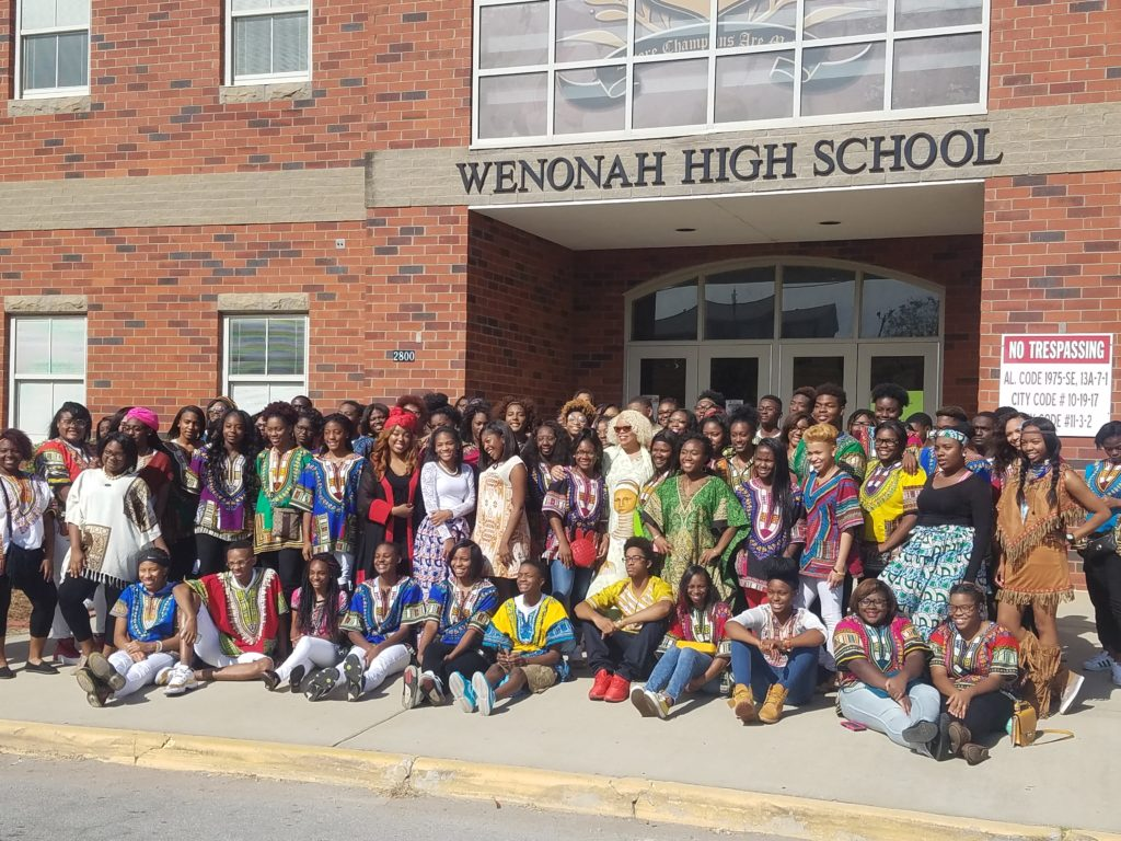Wenonah High School students celebrate heritage with African-inspired fashion.
