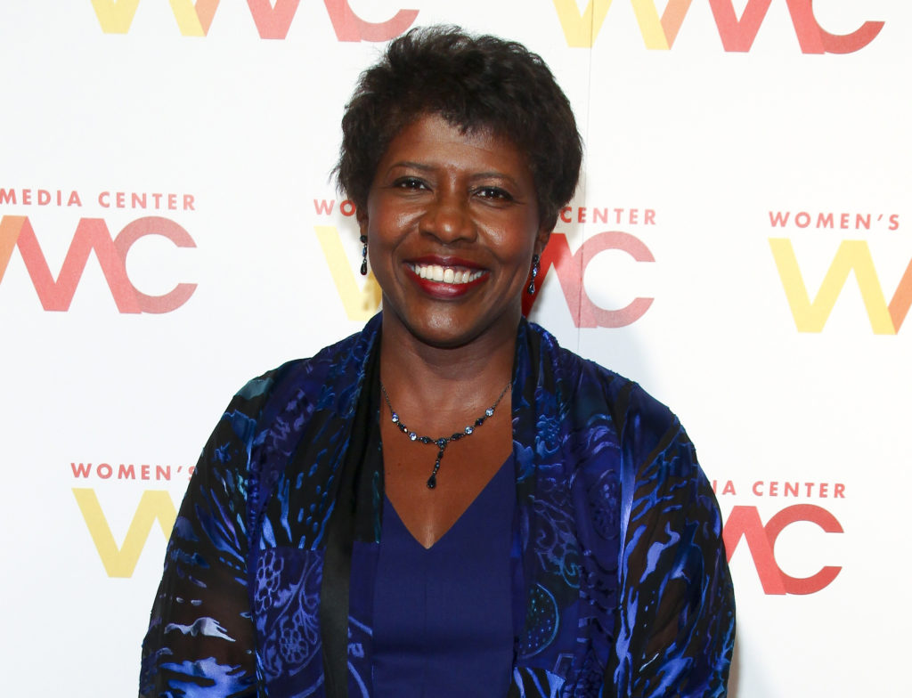 "In this Nov. 5, 2015 file photo, ""NewsHour"" co-anchor Gwen Ifill attends The Women's Media Center 2015 Women's Media Awards in New York. (Photo by Andy Kropa/Invision/AP, File)"