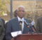 Mayor Bell, along with community leaders, announced the $40 million plan to revitalize downtown Ensley. (Monique Jones, The Birmingham Times)