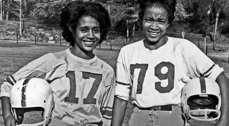 Carol Rose, left, and Theresa Sams at the Powder Bowl Classic, an annual United Negro College Fund benefit played in Tuskegee, Ala., circa 1960. (Provided photo)