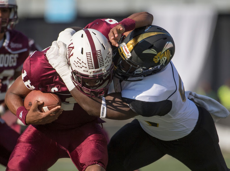 Alabama A&M edged Alabama State, 42-41, in overtime thriller in the Magic City Classic. (David Campbell, special to The Times)