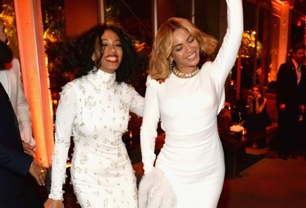 Solange and Beyonce attend the 2015 Vanity Fair Party hosted by Graydon Carter Feb. 22 at the Wallis Annenberg Center for the Performing Arts in Beverly Hills, Calif. (Associated Press)