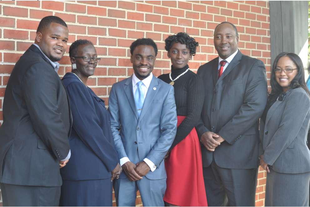 Mayor Brandon Dean (center) with members of the City Council (from left): Marquise Moore, Rhonda Bean, Ashley Henderson, Lonnie Murry and Shawn Dale-Johnson. (Stephonia Taylor Mclinn, special to The Times)