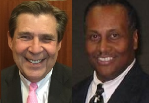 Jefferson County Commissoner David Carrington (left), Birmingham Water Works Board Member William Muhammad.