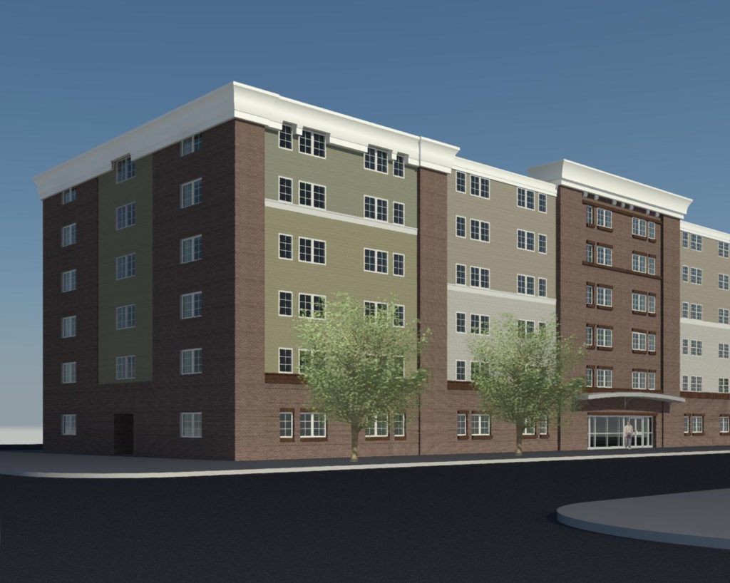 The renovation plan for Freedom Manor, the 103-unit apartment building on 5th Avenue, includes a new facade for the 30-year-old building, enhanced security systems, improved common areas and upgrades to each apartment.