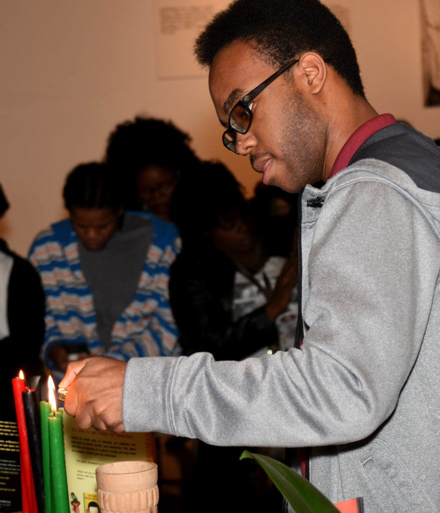 The Birmingham Civil Rights Institute held a Community of Readers Kwanzaa Workshop Friday.  The BCRI Community of Readers program aims to bridge the gap between parental involvement and literacy. (Solomon Crenshaw Jr., special to The Times)