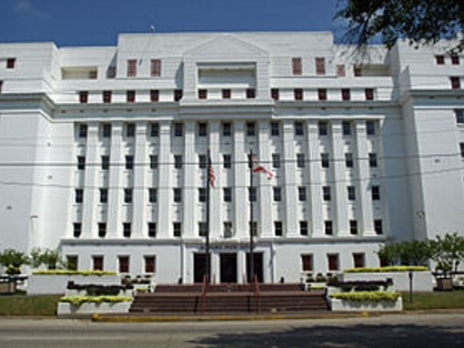 The Alabama State House in Montgomery, AL