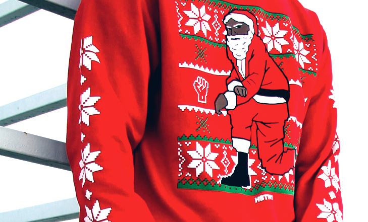 Nas recently announced he would be selling a line of kneeling Santa Christmas sweaters, an homage to Colin Kaepernick's NFL protest, with a portion of the proceeds going to the Center of Criminal Justice Reform. (Provided photo)