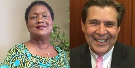 From left, Sandra Little Brown and David Carrington.