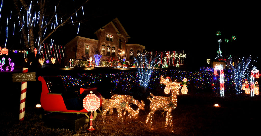 Christmas decorations are shown on Peppertree Highlands Circle in Trussville, Ala., Wednesday, Dec. 14, 2016. (Mark Almond, special to The Times)