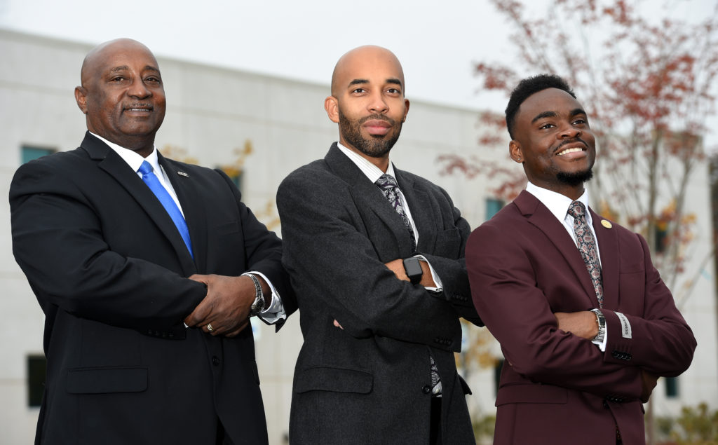 From left, Midfield Mayor Gary Richardson, Fairfield Mayor Edward E. May II and Brighton Mayor Brandon Dean area all working to make great strides in their respective cities. (Mark Almond, special to The Times)