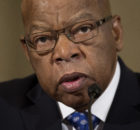 "In this Jan. 11, 2017 file photo, Rep. John Lewis, D-Ga. testifies on Capitol Hill in Washington at the confirmation hearing for Attorney General-designate, Sen. Jeff Sessions, R-Ala., before the Senate Judiciary Committee. Lewis says he's doesn't consider Donald Trump a ""legitimate president,"" blaming the Russians for helping the Republican win the White House. (AP Photo/Cliff Owen, File)"
